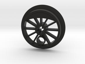 ML Steam Driver - Flanged in Black Natural Versatile Plastic
