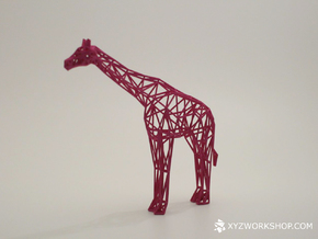 Digital Safari- Giraffe (Small) in White Strong & Flexible