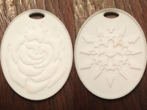 Ruby/Weiss White Rose Keychain in White Processed Versatile Plastic