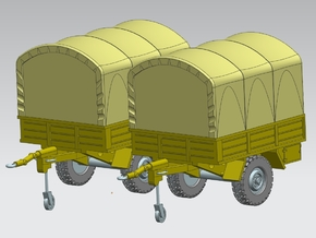 2 x Anhänger Trailer 1:220 Spur Z in Frosted Ultra Detail