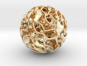 Small lidinoid in 14k Gold Plated Brass