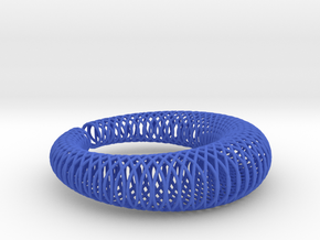 Bracelet 'Wire pattern' in Blue Processed Versatile Plastic