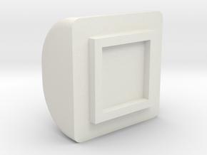 Light Cube Cover in White Natural Versatile Plastic