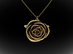 Rose in Polished Brass
