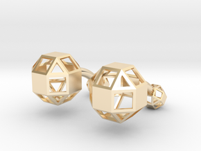 Rhombicuboctahedron cufflinks in 14K Yellow Gold
