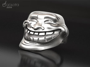 Trollface meme ring in Natural Silver: 7 / 54