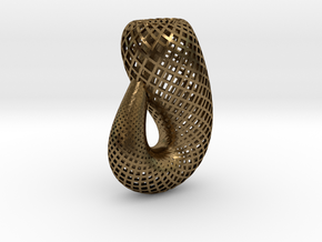 Klein bottle, classic in Natural Bronze
