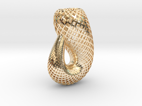 Klein bottle, classic in 14K Yellow Gold