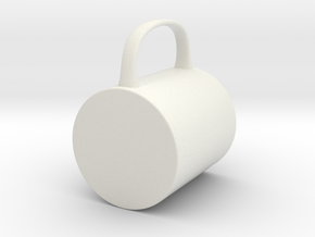 Coffee Mug MSD 1/4 scale in White Strong & Flexible