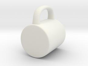 Coffee Mug for BJD: YOSD 1/6 scale in White Natural Versatile Plastic