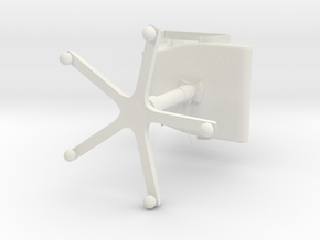 Officechair in White Natural Versatile Plastic: Small