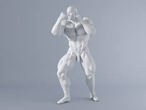Mini Strong Man 1/64 027 in Smooth Fine Detail Plastic: 1:64 - S