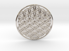 Flower Of Life - Large in Rhodium Plated Brass