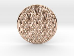 Flower Of Life - Medium in 14k Rose Gold Plated Brass