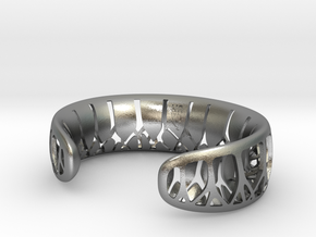 Forest for the Trees Cuff in Raw Silver: Large