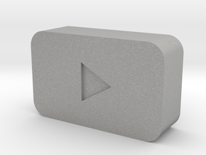 YouTube Play Button in Aluminum