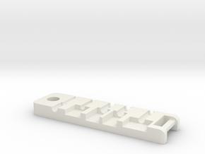 Mac Bracker Botton V1 in White Natural Versatile Plastic