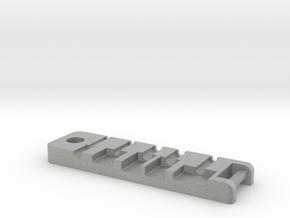 Mac Bracker Botton V1 in Metallic Plastic