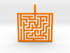 Maze Pendant in Orange Processed Versatile Plastic