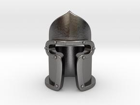 """Jacopo"" Barbute Ring in Polished Nickel Steel: 5.5 / 50.25"