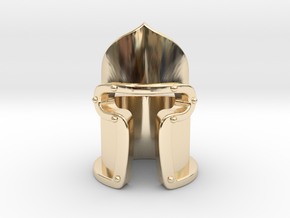 """""""Jacopo"""" Barbute Ring in 14k Gold Plated Brass: 5.5 / 50.25"""