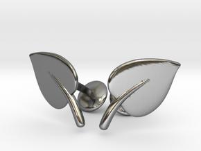Leaf Cufflinks in Fine Detail Polished Silver
