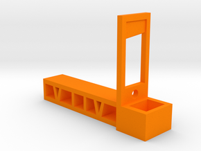 Guillotine Pencil Holder in Orange Processed Versatile Plastic