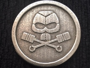 BRMC Coin in Polished Bronzed Silver Steel