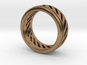 Simple - Fidget (Spin) Ring in Natural Brass (Interlocking Parts): 13 / 69