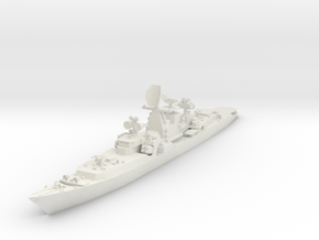 1/600 Soviet Kresta Cruiser in White Natural Versatile Plastic