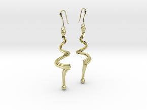 N. 18 bis in 18k Gold Plated Brass
