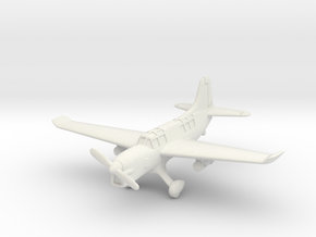 Curtiss SO3C Seamew (with landing gear) 1/144 in White Natural Versatile Plastic