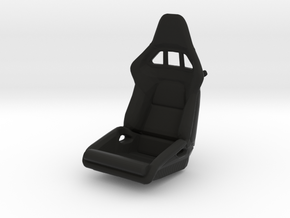 Race Seat P-RS-Type - LEFT - 1/10  in Black Natural Versatile Plastic