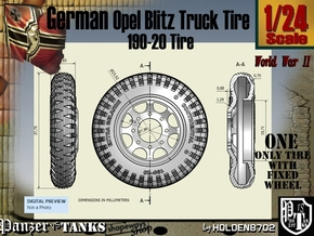 1-24 Opel Blitz Tire 190x20 in Frosted Ultra Detail