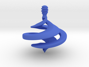 Ribbon Spinning Top in Blue Strong & Flexible Polished