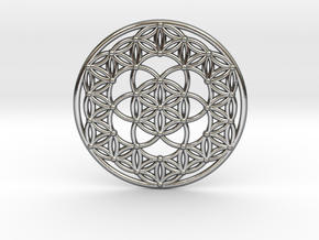 Seed Of Life - Flower Of Life in Polished Silver