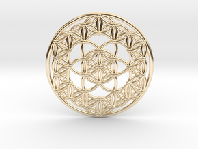 Seed Of Life - Flower Of Life in 14K Yellow Gold