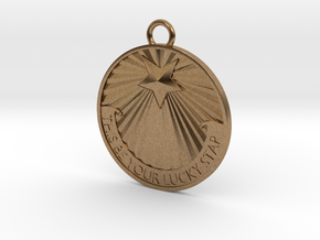 This Be Your Lucky Star Titanic Pendant / Keychain in Natural Brass