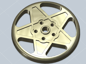 BUTTON CROMODORA WHEEL 20 mm in Black Natural Versatile Plastic