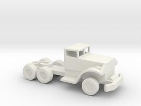 1/200 Scale Brockway Pontoon Bridge Tractor  in White Natural Versatile Plastic