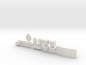 Greeblies for studio scale Y-Wing in White Natural Versatile Plastic