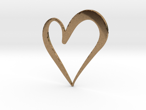 Big Heart in Natural Brass