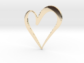 Big Heart in 14k Gold Plated Brass
