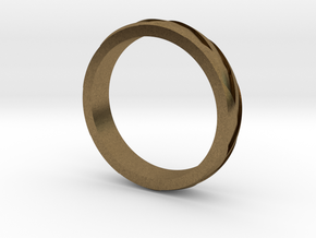 "Ring ""Profil"" in Natural Bronze"