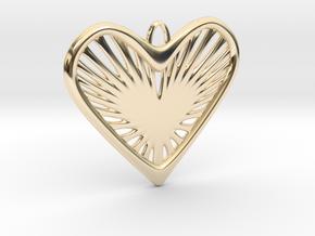 Heart Strings in 14k Gold Plated Brass
