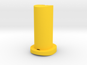 GF5 Plus 15 Caster Insert (Yellow) in Yellow Processed Versatile Plastic