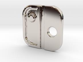 Switch Logo: Version 1 in Rhodium Plated Brass