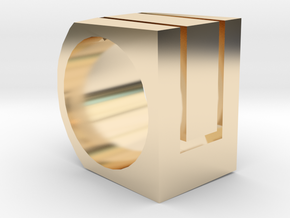 Square Ring  in 14k Gold Plated Brass: 5.5 / 50.25