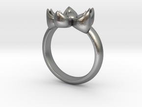 Kanzashi Ring in Natural Silver: 4 / 46.5