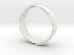 The Wrecking Crew Ring in White Natural Versatile Plastic